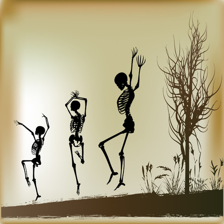 jive: Dancing Skeletons Background