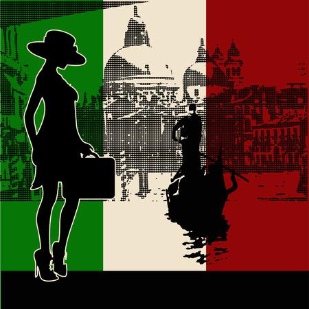 Italian Travel Background Vector