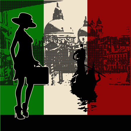 gondolier: Italian Travel Background