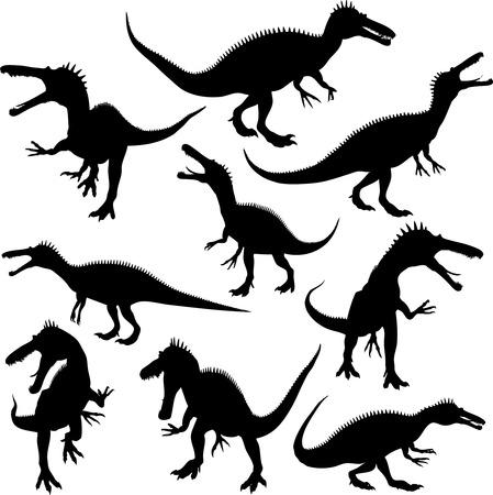 raptors: Dinosaur Silhouettes Illustration