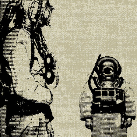 Deep Sea Diver  Illustration
