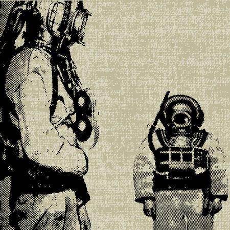 flier: Deep Sea Diver  Illustration