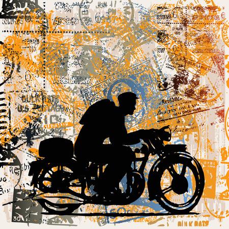 silueta moto: Viajes de motocicleta