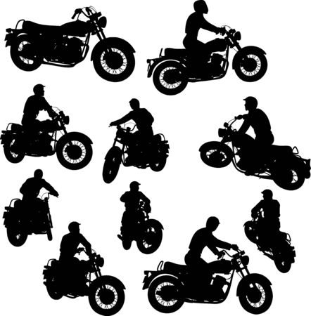 biker: Motorbike Silhouettes
