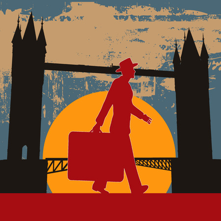 london tower bridge: London Break  Illustration