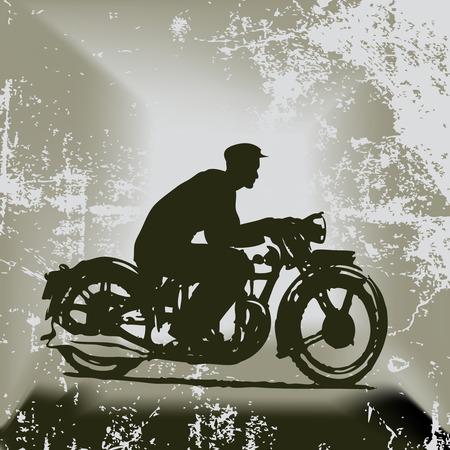 Arri�re-plan de moto Vintage