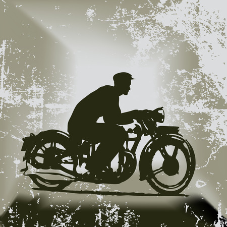 Vintage Motorcycle Background Illustration