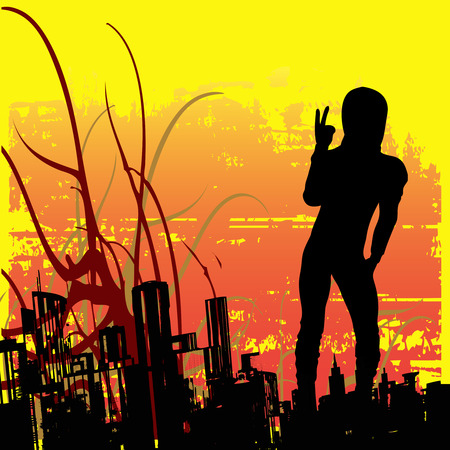 antisocial: Urban Attitude  Illustration