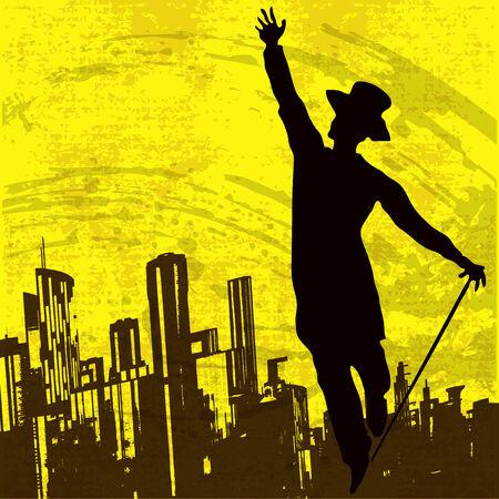 tophat: City Dancer  Illustration
