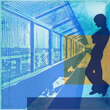 underage: Urban Blues Vector Background