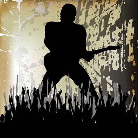 Guitarista Background  Stock Vector - 8095853