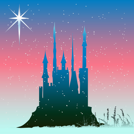 castle silhouette: Winter Castle