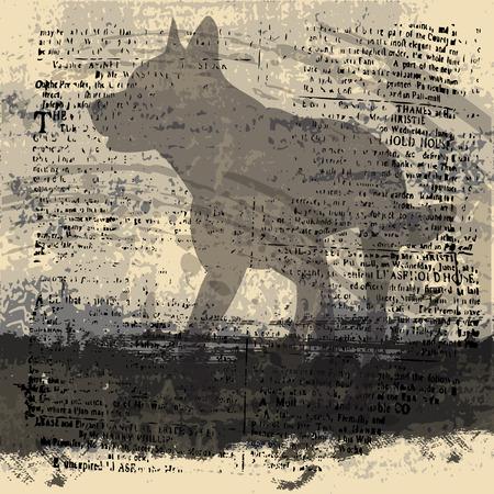 Shadow Wolf Background