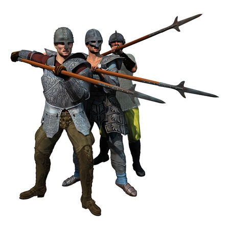 spearman: Medieval Spearmen at the ready