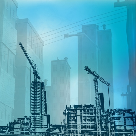 Urban Construction Background Stock Photo - 9081198