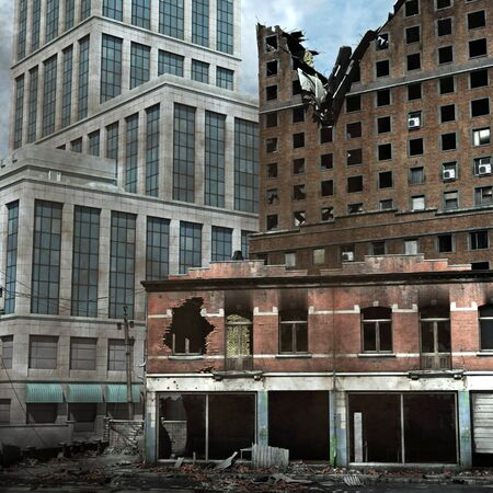 tearing down: Urban Destruction Stock Photo