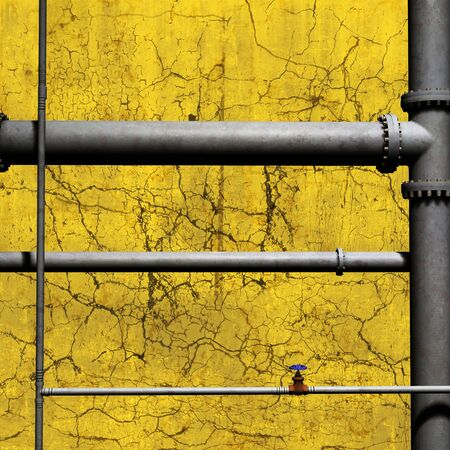 cracked wall: Pipework background