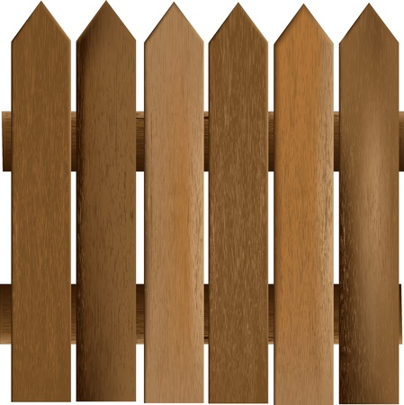 panel: Wooden Railings Vector Background