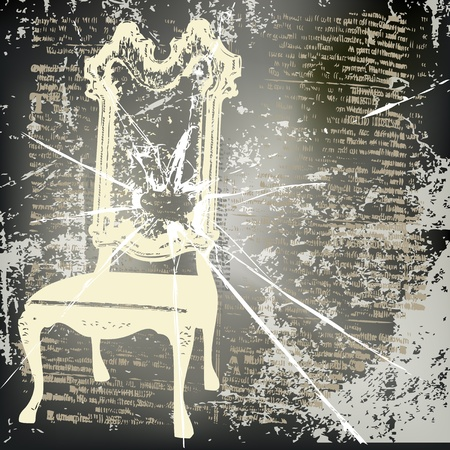Shattered Chair  Vector