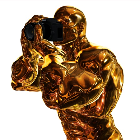 Golden Photographer Stock Photo - 9368009