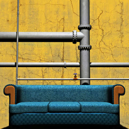 pipework: Couch In front of Pipework