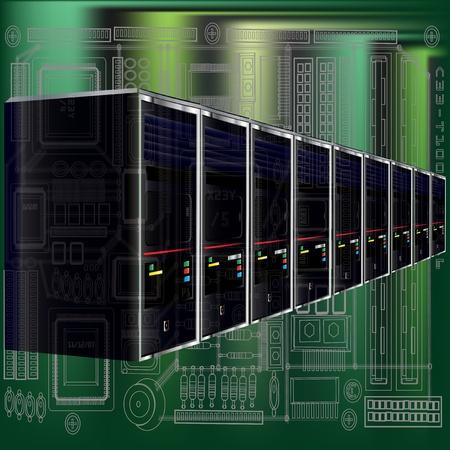 Computer Server  Illustration