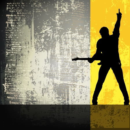 rock guitarist: Guitarist Vector BackgroundFlyer