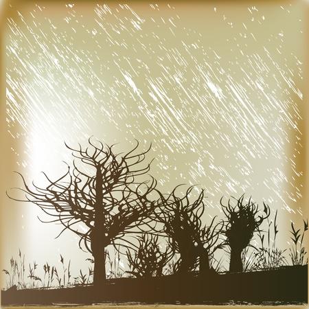 rain background: Winter Rain Background Illustration
