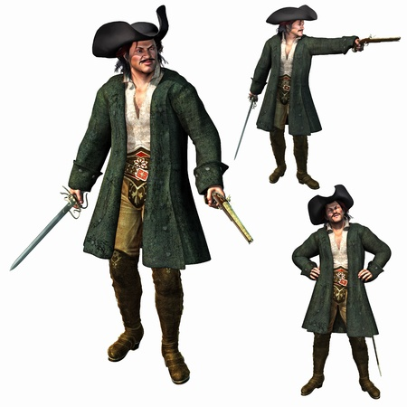 The Pirate Captain, 3D render