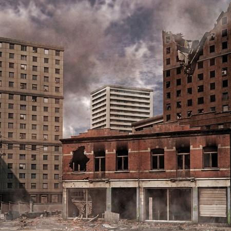 Urban Destruction Foto de archivo