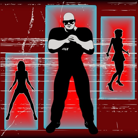 If Your Not On The List , Bouncer Background Vector Illustration