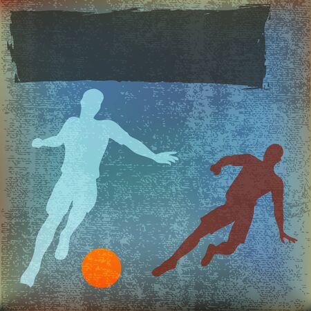 football tackle: Football Flyer Illustration