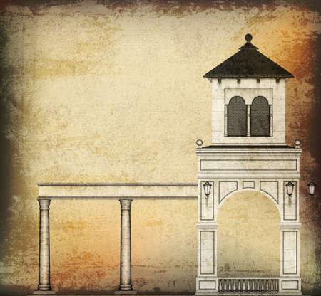 edifice: Vintage Architectural Background
