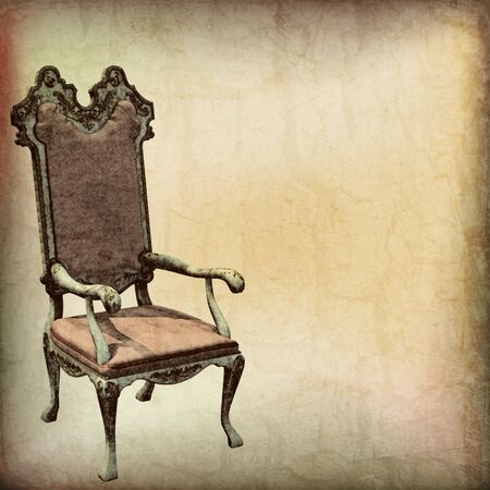 Vintage Chair Parchment Background