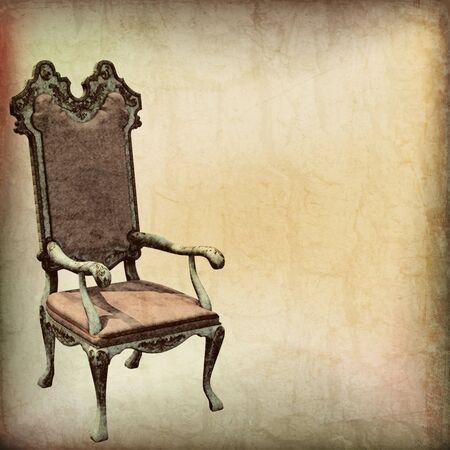 Vintage Chair Parchment Background