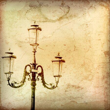 lamp on the pole:  Vintage Gas Light Backround