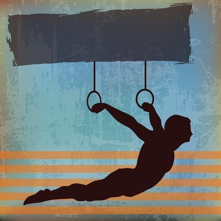 sports background: Gymnast Background Illustration