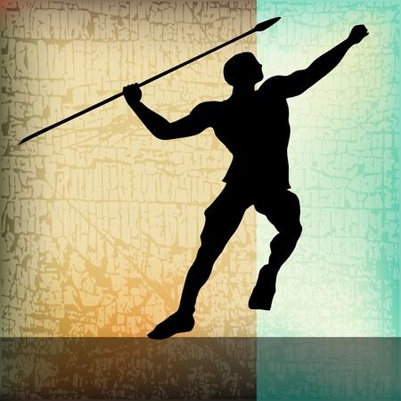 atletismo: El Javelin, Vector Atletismo de fondo