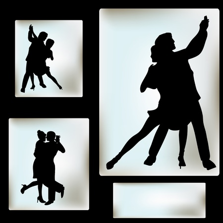 Ballroom Dance flyer, for an event or Dance School Vector
