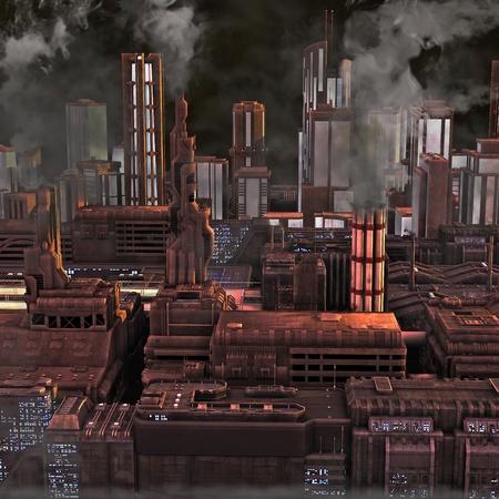 Future ville industrielle Banque d'images