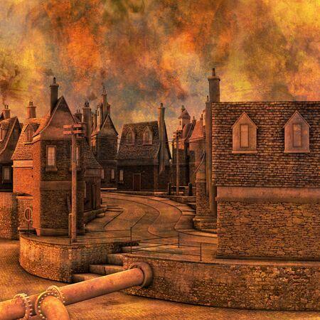 gable: Smokey Industrial Town Ilustration