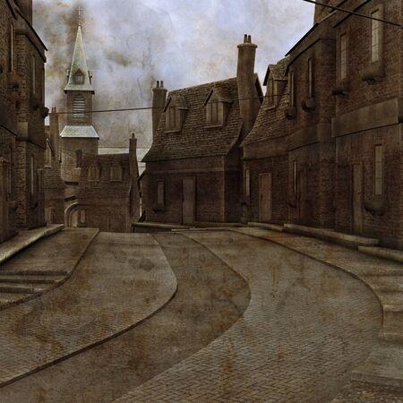 Industrial Town Illustration