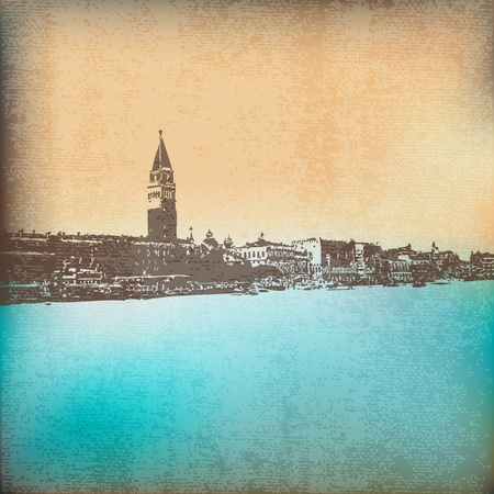 Venetian Vintage Background Vector