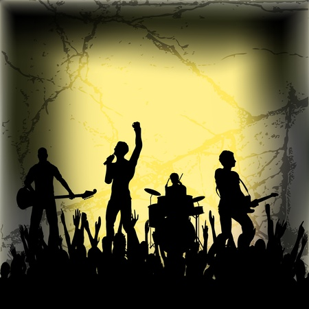 Guitar Group Vector Background Vector