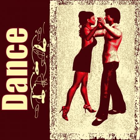 dance school: Ballroom Dance flyer, for an event or Dance School