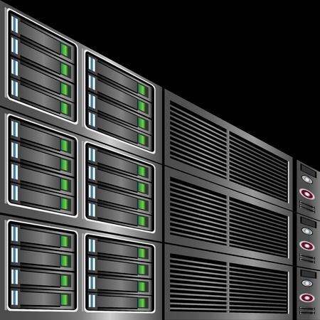 Computer Servers Background Vector