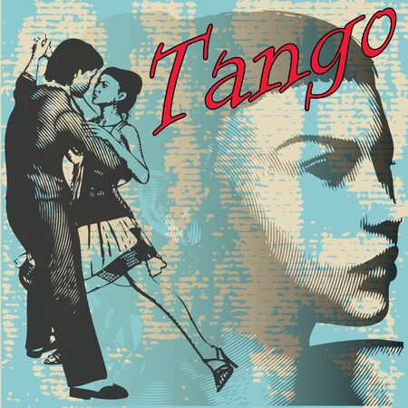 Tango Dance Background Vector