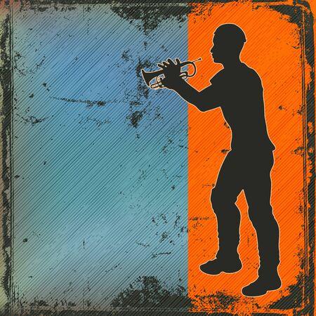 cornet: Brass Cornet Player Background