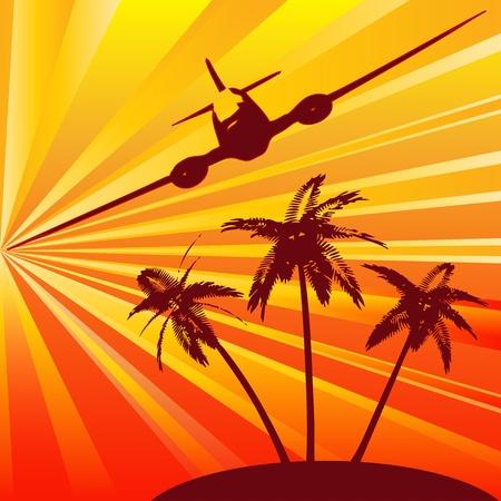 Tropical Travel Vector