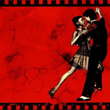 t�nzerinnen: Ballroom Dance Flyer, f�r eine Veranstaltung oder Dance School, basierend auf einer 3D-Darstellung Lizenzfreie Bilder